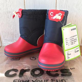 クロックス(crocs)の★新品正規品★クロックス ロッジポイント ウインター・スノーブーツ 17.5cm(アウトドアシューズ)