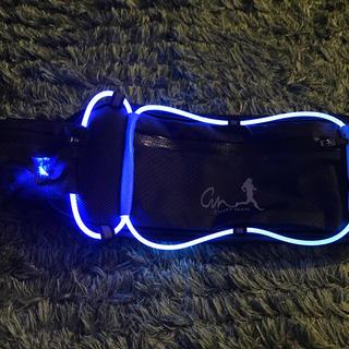 USB充電式 LEDライト  ランニングポーチ 黒(ランニング/ジョギング)