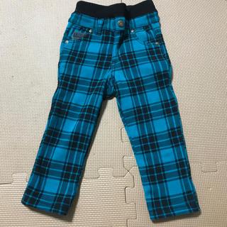 シマムラ(しまむら)の【新品未使用】80 フワモコ チェック柄 パンツ(パンツ)