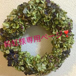 秋色紫陽花ブラックグリーンプラスワイン純虹様オーダーページ(ドライフラワー)