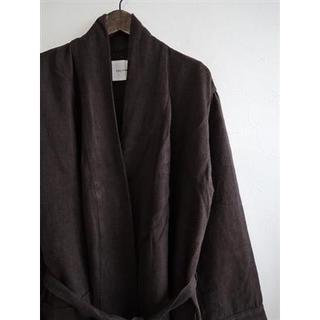 ネストローブ(nest Robe)のトゥジュー TOUJOURS リネン羽織りコート 美品(ノーカラージャケット)