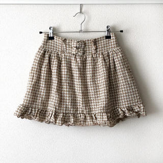 リズリサ(LIZ LISA)の新品☆リズリサ 千鳥格子ニットフレアスカート(ミニスカート)