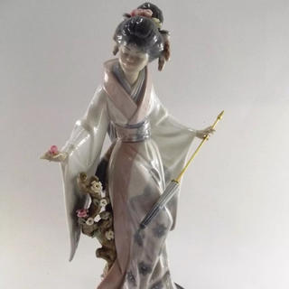 Lladro リヤドロ #1451 Teruko Japanese Girl (陶芸)