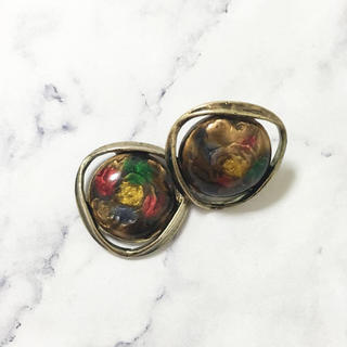 パピヨネ(PAPILLONNER)のVintage * mosaic rose pierce(ピアス)