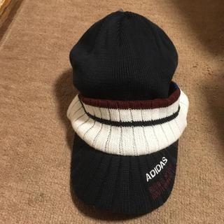 アディダス(adidas)の激安!新入荷今年来年トレンド形トレンド色全部取り入れたつば付きニット帽3888品(ニット帽/ビーニー)