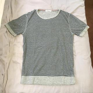 ザラ(ZARA)のメンズ 半袖 パイル地 ボーダー Tシャツ reroom ロンハーマン h&m(Tシャツ/カットソー(半袖/袖なし))