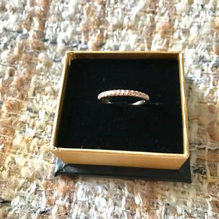 ビジュソフィア ハーフエタニティピンキーリング ピンクゴールド 4号 10K(リング(指輪))
