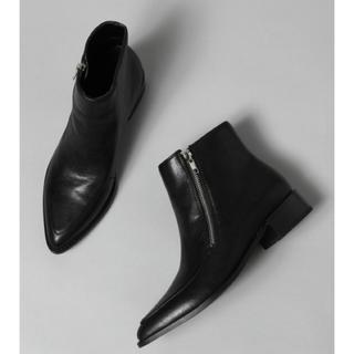 ジーナシス(JEANASIS)の新品☆ポインテッドZIPブーツ M(ブーツ)