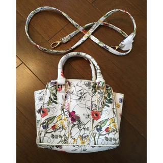 シマムラ(しまむら)のハンドバッグ ショルダーバッグ ツーウェイ ボタニカル柄 新品未使用  2way(ハンドバッグ)