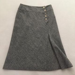 バーニーズニューヨーク(BARNEYS NEW YORK)のツィード デザインスカート(ひざ丈スカート)