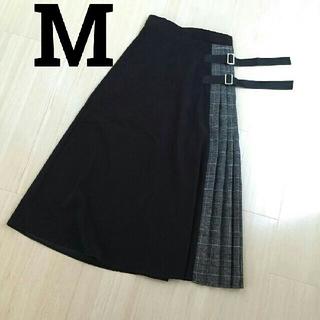 シマムラ(しまむら)のM MURUA風 ベルト付 切り替えスカートしまむらユニクロZARAスライGU(ロングスカート)