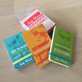 アンディウォーホル(Andy Warhol)の未使用 ミニノート 3冊セット アンディ・ウォーホル(ノート/メモ帳/ふせん)