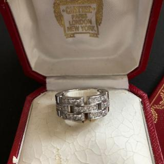 カルティエ(Cartier)のCartier マイヨンパンテールリング ハーフダイヤモンド 750WG #52(リング(指輪))