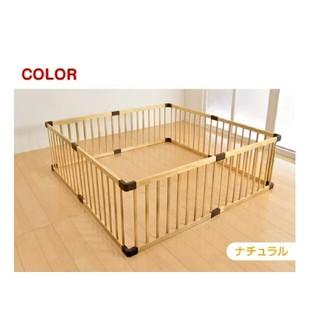 ☆ぷぺぽ様専用☆ベビーサークル 木製 ブルー(ベビーサークル)