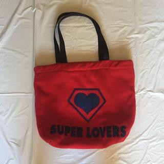 SUPER LOVERS  フリーストートバック (赤)