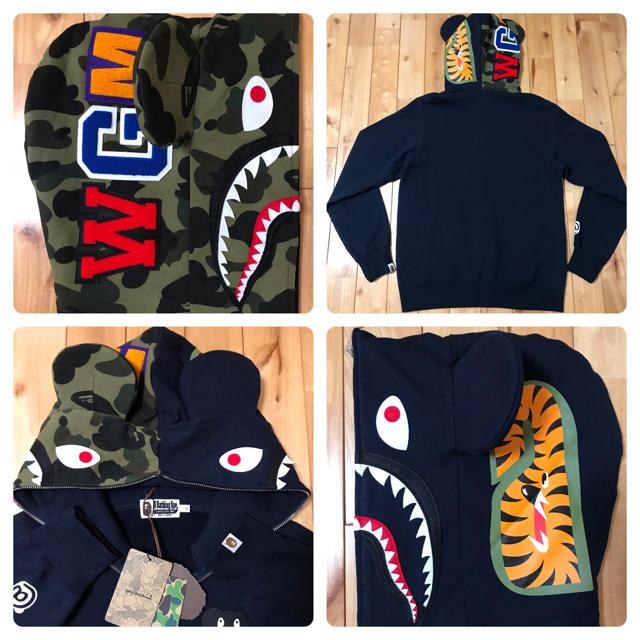 A BATHING APE(アベイシングエイプ)の★新品★ ベアブリック シャークパーカー shark hoodie bape メンズのトップス(パーカー)の商品写真