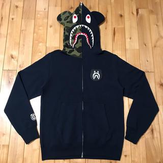 ★新品★ ベアブリック シャークパーカー shark hoodie bape
