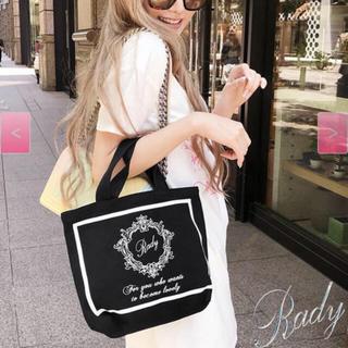 レディー(Rady)のradyミニノートバッグ黒×白(トートバッグ)