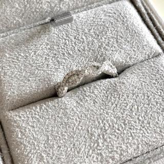 アガット(agete)の新品 テーパーカット ダイヤ プラチナリング(リング(指輪))