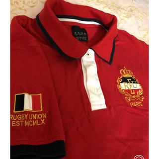 ザラ(ZARA)のZARA ポロシャツ 赤(ポロシャツ)