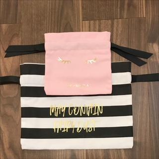 セフォラ(Sephora)のSEPHORA セフォラ 巾着袋 ノベルティ  ボーダー ピンク(ポーチ)