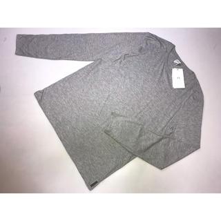 アルマーニエクスチェンジ(ARMANI EXCHANGE)の新品アルマーニエクスチェンジAX長袖Tシャツグレー系Lサイズ無地Tシャツ(Tシャツ/カットソー(半袖/袖なし))