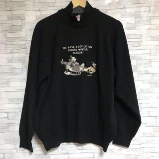 ディズニー(Disney)のディズニースポーツ セーター ニット Lサイズ 刺繍(ウエア)