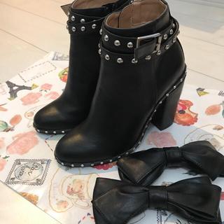 チェスティ(Chesty)の[新品未使用]Chesty チェスティ 黒ショートブーツSサイズ(ブーツ)