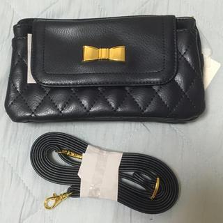 シマムラ(しまむら)の新品しまむらリボンお財布ショルダー・ネイビー(財布)