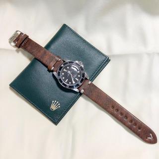 ロレックスに最適!腕時計用 レザーベルト 革 20mm レッドブラウン#012(レザーベルト)