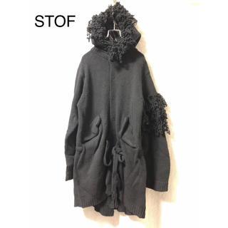 ストフ(stof)のSTOF 変形デザインニットパーカー(ニット/セーター)