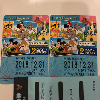 ディズニー(Disney)のディズニー リゾートライン2デーパス(鉄道乗車券)