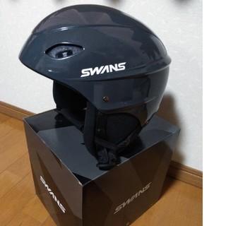 スワンズ(SWANS)のSWANSスノーヘルメット H-45R Lサイズ ガンメタ(その他)
