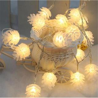 イルミネーションライト 松ぼっくり LED ガーランド(蛍光灯/電球)