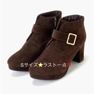 マジェスティックレゴン(MAJESTIC LEGON)の新品 定価6264円 マジェスティックレゴン ブーツ ブラウンスエード Sサイズ(ブーツ)