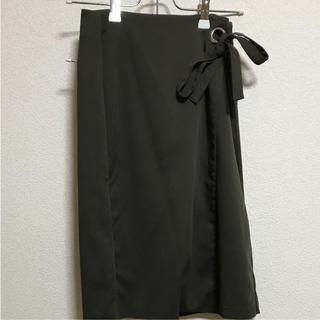 8089d08368c359 ロングスカート ラップスカート 巻きスカート ラップデザイン リメイク風 ...