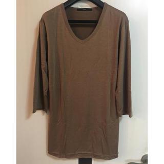 エイケイエム(AKM)のAKM 5分袖 切りっぱなし レイヤードカットソー(Tシャツ/カットソー(七分/長袖))