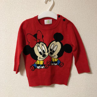 ディズニー(Disney)のミッキー ミニー ニット80(ニット/セーター)