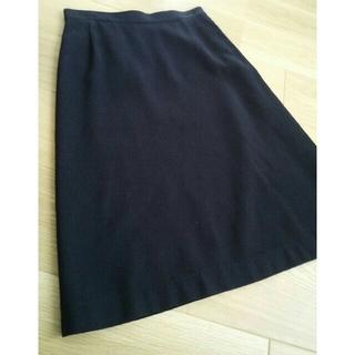 アングローバルショップ(ANGLOBAL SHOP)のclaudie pierlot の深いネイビーのスカート(ひざ丈スカート)