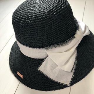 Rady - Rady 麦わら帽子 帽子 ハット 黒 ブラック