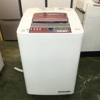 ヒタチ(日立)の⭐️HITACHI⭐️全自動洗濯機7kg美品ビートウォッシュ 大阪市近郊配達無料(洗濯機)