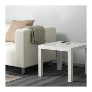 イケア(IKEA)のLACK ラック サイドテーブル, ホワイト, 55x55 cm(コーヒーテーブル/サイドテーブル)