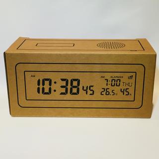 ムジルシリョウヒン(MUJI (無印良品))のデジタル電波時計 大音量アラーム機能付 置時計・ホワイト(置時計)