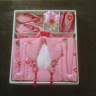 七五三 3歳 着物  セット  ピンク(和服/着物)