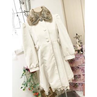 アクシーズファム(axes femme)のアクシーズファムLサイズ♡ファー襟コート(ロングコート)