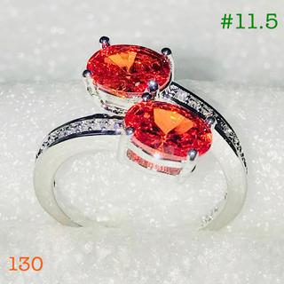 2.66ctオレンジサファイアのリング(リング(指輪))