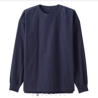 無印良品*オーガニックコットン ブロードプルオーバーリブ付きシャツ*男女兼用
