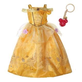 ディズニー(Disney)のプリンセス 衣装 美女と野獣 ベル風 キッズ ハロウィン クリスマス 100cm(衣装一式)