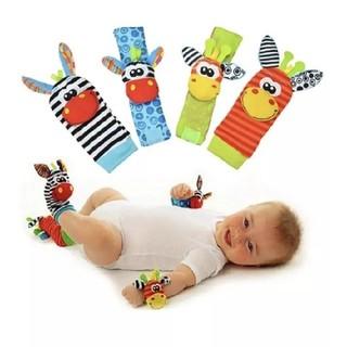 赤ちゃん ベビーラトル ガラガラソックス おもちゃ(がらがら/ラトル)