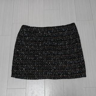 アンティックラグ(antic rag)の【美品】ツイードタイトスカート(ミニスカート)